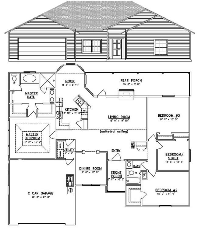 homes 1900 sqft and up traditional style house plan 3 beds 2 baths 1800 sq ft